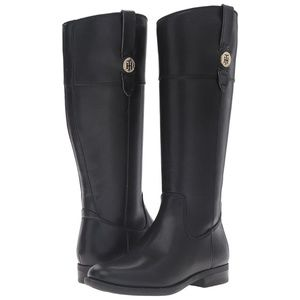 TOMMY HILFIGER TALL SHANO BLACK RIDING BOOTS